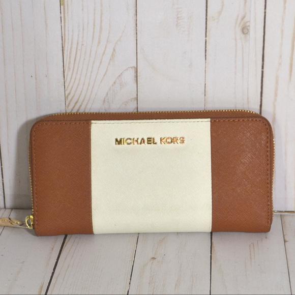 2bee51bb1b17 Michael Kors Bags | Jet Set Color Block Ziparound Wallet | Poshmark
